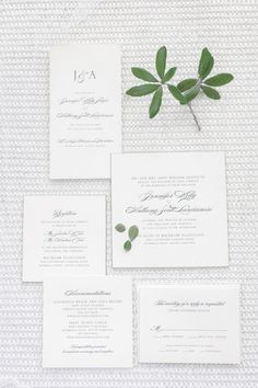 Love this neutral wedding invitation suite with elegant calligraphy! {Pasha Belman Photography}