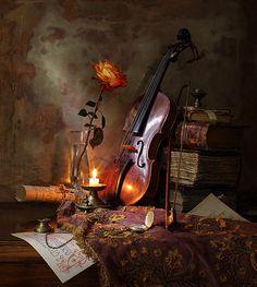 35PHOTO - Андрей Морозов - Натюрморт со скрипкой и розой