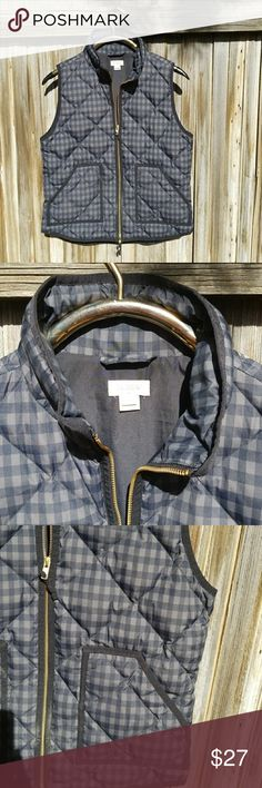J Crew Vest Cute checked Brown and black vest cute with jeans J. Crew Jackets & Coats Vests