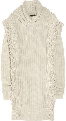 605907313c ShopStyle  Etro Fringed chunky-knit wool sweater dress Fringe Sweater
