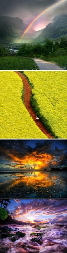 I don't know where these places are but they are so beautiful! <3