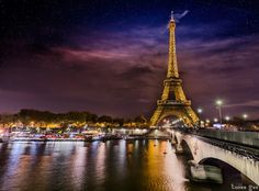 Paris by night, the Eiffel Tower from Iena bridge. by Tonee Gee on 500px