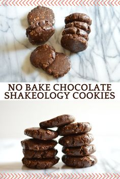 No bake chocolate Shakeology cookies - a perfect healthier treat with ingredients you most likely have already! #shakeology #21dayfix #21dfx