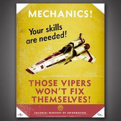 Battlestar Galactica Propaganda Poster Set – Quantum Mechanix