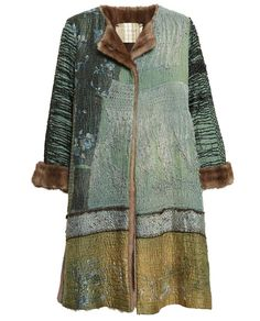 BY WALID | Antique Chinese Textile Coat with Mink Lining