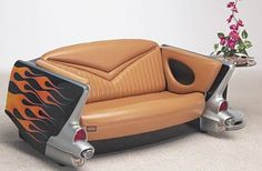 Vehicular Furnishings and Automotive Decor. Car Part Furniture, Unusual Furniture, Automotive Furniture, Automotive Decor, Furniture Making, Furniture Design, Funky Furniture, Industrial Furniture, Custom Furniture