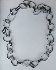 Hand forged sterling silver chain.  Jude Designs - Jude Carmona