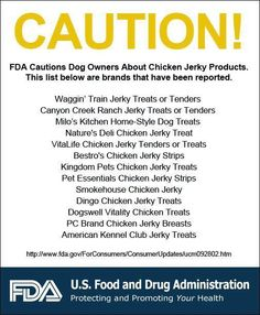 FDA releases new information about tainted chicken jerky treats from China   Seattle Dog Spot
