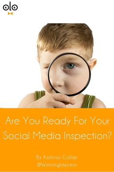 Recruiters, Are You Ready For Your Social Media Inspection? by Katrina Collier. Be ready. Learn how to protect yourself from unflattering tags & posts. Because Recruiters, you are under social media inspection too!