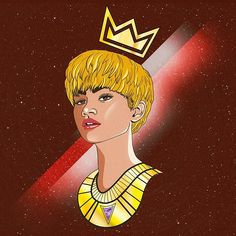 """👑💄I wanna start something new... I'm working on something new. A year ago I also created this illustration of  Zendaya inspired from her collaboration with Chris Brown on """"Something New"""".    #Regram via @kenallouis"""