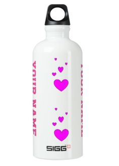 Stay hydrated while hitting the gym with this sport water bottle . Designed by ArianeC from iCraftCafé . Sports Bottles, Stay Hydrated, Personalized Water Bottles, Formal Shirts, Create Your Own, Gym, Simple, Pink, Design