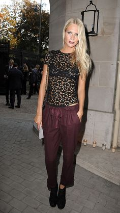 love the pants...the color, the relaxed chic fit. the top is cute too