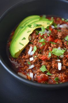 Instant Pot Ground Beef Chili - Nom Nom Paleo®