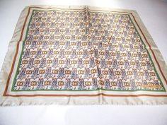 Vintage Kieselstein Cord Silk Scarf