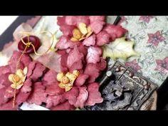 Heartfelt Creations: Sparkling Poinsettia 3D Flip n Fold Album - YouTube