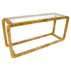 Check out this item at One Kings Lane! Rattan & Glass Console