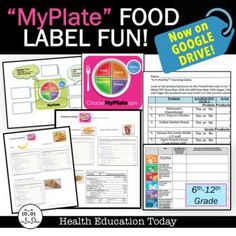 """NOW ON GOOGLE DRIVE FOR DIGITAL LEARNING!! Have you ever have a student ask you if a food product was """"healthy?"""" Did you know there's an easy formula you can use to find out? This lesson combines MyPlate food groups with a challenging guessing game as to whether 15 products in those groups are healthy, and a fun food label reading scramble around the room to find the answers!!"""