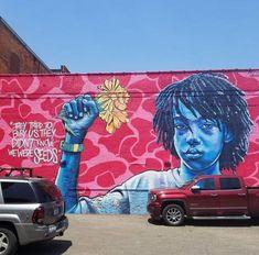 Brandan Bmike Odums Eastern Market Photo by Murals Street Art, Amazing Street Art, Black Artists, Street Artists, Urban Art, Painting & Drawing, Detroit, Color Pop, Michigan