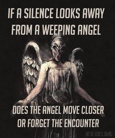 Weeping Angels and The Silence......i would say no, because the angel is still looking at the silence.