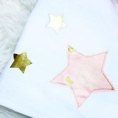 Lange en coton Etoiles Cloth nappy / Cloth diaper with stars Lange ; Cadeau naissance ; Birth gift ; Nani Iro