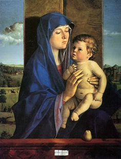 Giovanni Bellini : Madonna and Child (also known as Madonna with the Pear/Alzano Madonna/Morelli Madonna) (Accademia Carrara di Belle Arti Bergamo (Italy - Bergamo)) 1430 ジョヴァンニ・ベリーニ