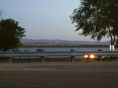 PT NAMPA IDAHO  LAKE LOWELL. THE TWO LIGHTS IN THE SKY I THINK IS  THE CAR LIGHTS SOMEHOW GOT IN A REFLECTION. JUNE 2015