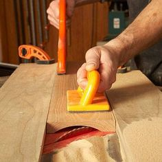 """Safely """"shape"""" wide concave cuts using your tablesaw and these techniques."""