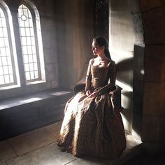 Queenie in the castle... But which castle?! #dramatic #thatdresstho