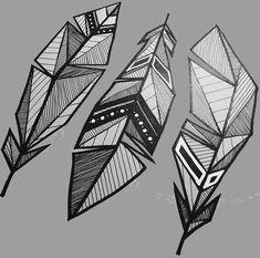Tatoo • Geometric • Carved Leaf • Drawing •