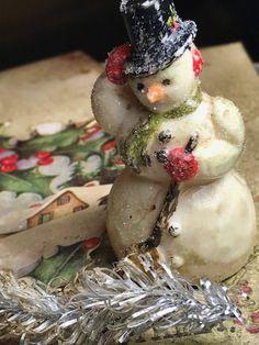 A Mini Tutorial: A Vintage Salvaged Snowman