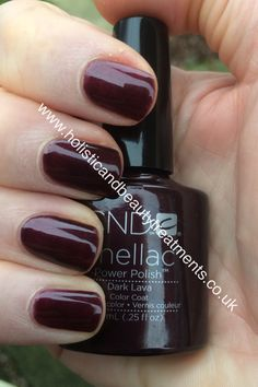 CND Shellac Dark Lava with Ruby Ritz