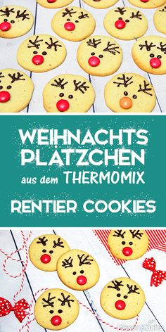 Rentier - cookies- Diplomarbeit roten cookies, not only look voll cute, they folglich. Rentier - cookies- Diplomarbeit roten co. Easy Cookie Recipes, Cupcake Recipes, Baking Recipes, Homemade Christmas Gifts, Homemade Gifts, Cute Christmas Cookies, Cake Mix Cookies, Cookies Kids, Baking With Kids