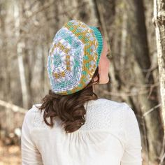Denali Tam Crochet Pattern-Accent your winter wardrobe with a sweet colorwork tam in soft and pretty shades of Willow Rustic Light yarn.