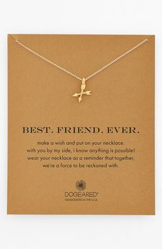 'Make a wish and put on your necklace. with you by my side, i know anything is possible! wear your necklace as a reminder that together, we're a force that can't be reckoned with.'