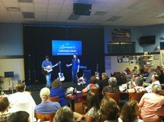 Savannah performing for a packed house at the Grand Opening in Garner NC