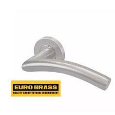 Stainless Steel Silver Tubular Door Handle Lever