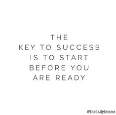 The key to success...