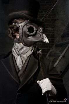 leather mask - totally steampunk!
