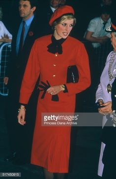 Princess Diana (  in Southampton to christen the P&O cruise ship, 'Royal Princess', 15th November 1984.