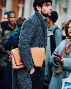 http://chicerman.com  billy-george:  Loving the coat!  #streetstyleformen
