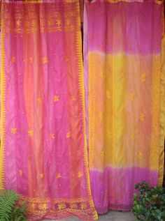 SONG OF INDIA Gypsy Curtains with Vintage Saris by BabylonSisters
