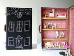 Suit case doll house