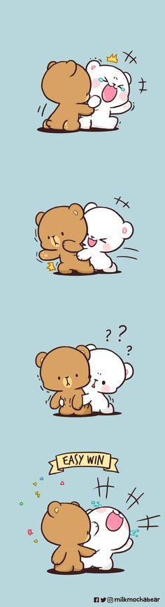 Cute Love Gif, Cute Cat Gif, Bear Wallpaper, Kawaii Wallpaper, Cute Cartoon Pictures, Cute Pictures, Cute Bear Drawings, Bear Gif, Cony Brown