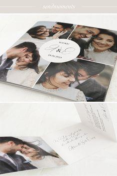 """Von Herzen """"Danke!"""" sagen mit der Danksagungskarte zur Hochzeit """"Zauberzeit"""" und den tollsten Aufnahmen Eures einzigartigen Tages. #danke #karten #hochzeit #hochzeitskarten #danksagungen #dankeskarten #hochzeit2019"""