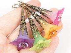 Lucite Flower Earrings                                                                                                                                                                                 More