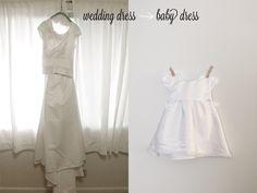 wedding dress conversion christening gown