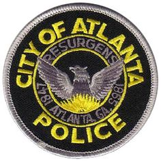 US State of Georgia, City of Atlanta Police Department Patch Us Police Car, Local Police, Military Police, Police Officer, Atlanta Police, Blue Line Flag, Police Academy, Police Patches, At Home Workout Plan