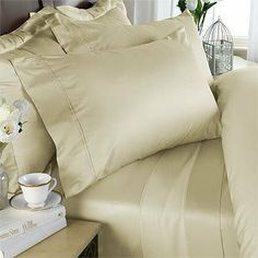 """8PC ITALIAN 1200TC Egyptian Cotton DOWN ALTERNATIVE COMFORTER Bed in a Bag - Sheet , Duvet California King Ivory by Egyptian Cotton Factory Outlet Store. $239.99. This 8pc luxury bedding set is designed & crafted in ITALY.. 1 Flat Sheet (110"""" x 102""""), 1 Fitted Sheet (72"""" x 84"""") and 2 King Pillow Cases (20"""" x 40""""). Beautiful Duvet Set : 1 Duvet Cover (106"""" x 90"""") and 2 Shams (20"""" x 40""""). Luxury 1200TC 100% DOWN ALTERNATIVE Comforter, 750fp, 50oz, Allergy free.. ITALIAN 12..."""