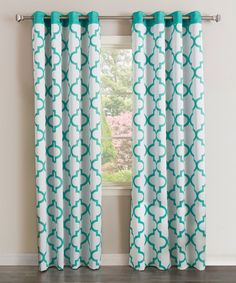 Another great find on #zulily! Blue Quatrefoil Room-Darkening Curtain Panel - Set of Two #zulilyfinds