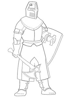 knights armor coloring pages - photo#37